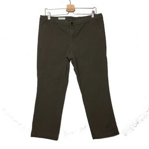 Kut From The Kloth Green Gwen Relaxed Crop Trouser